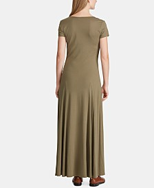 Lauren Ralph Lauren Jersey Scoop Neck Maxidress