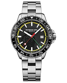 RAYMOND WEIL Men's Swiss Tango Bob Marley Stainless Steel Bracelet Watch 42mm