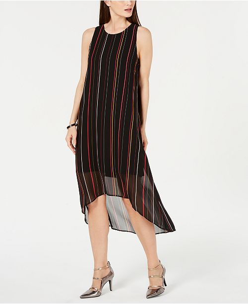 Alfani Stripe High-Low Maxi Dress, Created for Macy's