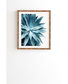 Bursting Into Life Teal Framed Wall Art