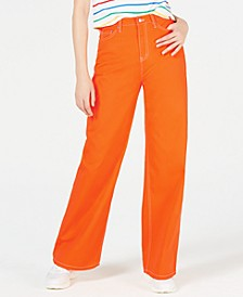 Cotton High-Waisted Wide-Leg Jeans