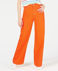 Dickies Cotton High-Waisted Wide-Leg Jeans