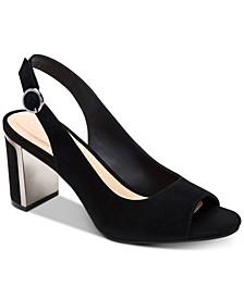 Women's Step 'N Flex Florraa Slingback Peep-Toe Dress Sandals, Created for Macy's