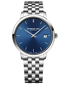 RAYMOND WEIL Men's Swiss Toccata Stainless Steel Bracelet Watch 42mm