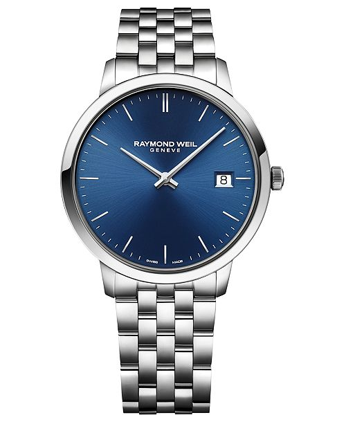 Raymond Weil Men's Swiss Toccata Stainless Steel Bracelet Watch 42mm