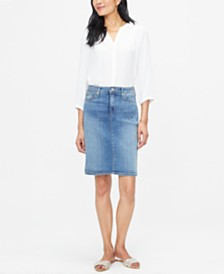 NYDJ Tummy-Control 5-Pocket Denim Skirt