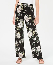 Be Bop Juniors' Floral-Printed Soft Palazzo Pants