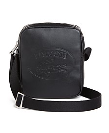 Lacoste Men's Embossed Vertical Leather Bag
