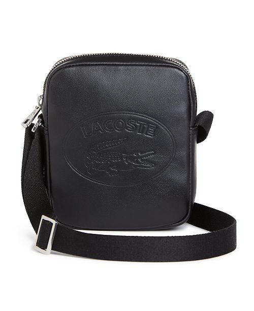 4d518c0712 Lacoste Men's Embossed Vertical Leather Bag; Lacoste Men's Embossed  Vertical Leather ...