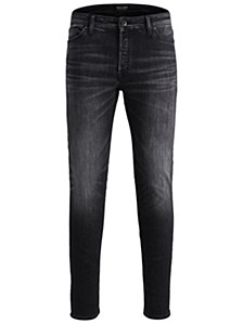 Men's Slim Fit Black Washed Style Tim Jeans