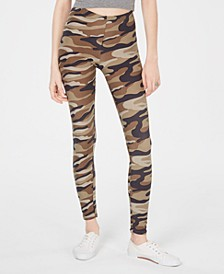 Juniors' Camo-Printed Brushed Jersey Leggings