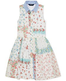 Polo Ralph Lauren Big Girls Floral Cotton Shirtdress