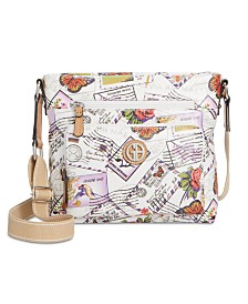 Giani Bernini Canvas Postcard Crossbody, Created for Macy's