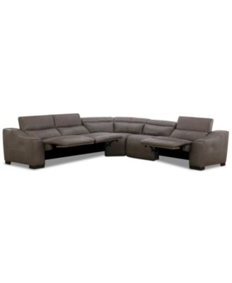Ruthin 5-Pc. Leather Sectional Sofa with 3 Power Recliners