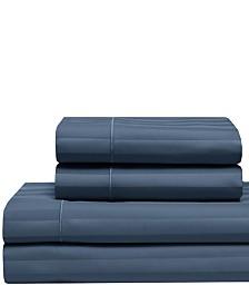 Cooling Cotton Satin Stripe Split King Sheet Set