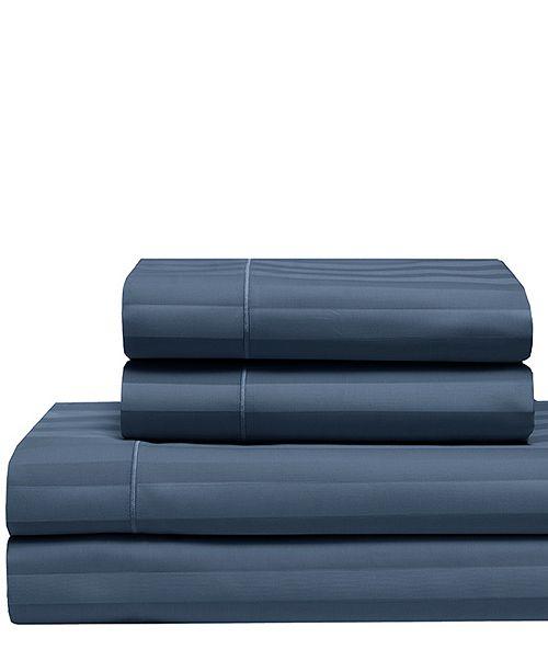 Elite Home Cooling Cotton Satin Stripe Split King Sheet Set