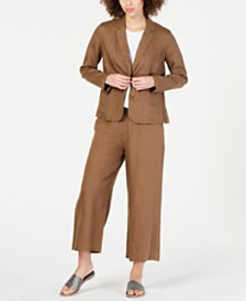 Eileen Fisher Blazer & Cropped Pants