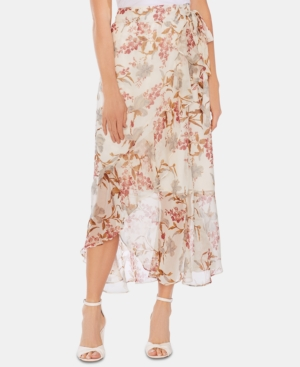 Vince Camuto Skirts FLORAL WRAP SKIRT