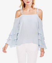 80048abee84fb8 Vince Camuto Tiered Ruffle-Sleeve Top