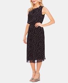 Vince Camuto Dot-Print Chiffon Midi Dress