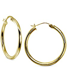 Giani Bernini Hoop Earrings in 18k Gold-Plated Sterling Silver, Created for Macy's