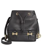 67198efc6 Giani Bernini Pebble Leather Bridle Bucket Bag
