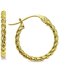 Giani Bernini Twist Hoop Earrings in 18k Gold-Plated Sterling Silver, Created for Macy's