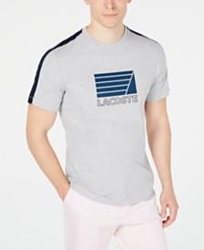 Lacoste Men's Logo Graphic Stripe T-Shirt