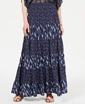 948b0ae9ad Style & Co Mixed-Print Tiered Maxi Skirt, Created for Macy's
