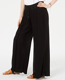 Style & Co Textured Tie-Waist Wide-Leg Pants, Created for Macy's