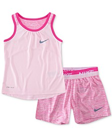 Nike Little Girls 2-Pc. Dri-FIT Swoosh Tank Top & Shorts Set