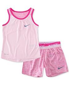 Nike Toddler Girls 2-Pc. Dri-FIT Swoosh Tank Top & Shorts Set