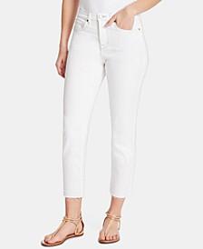 Raw-Hem Cropped Jeans