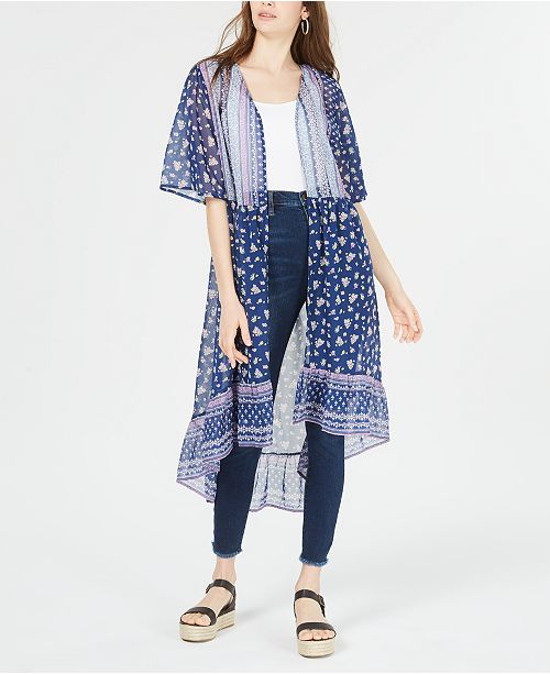 Ultra Flirt Juniors' High-Low Kimono