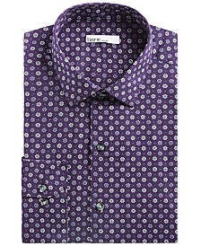 Bar III Men's Slim-Fit Performance Stretch Daisy Dot Dress Shirt, Created for Macy's