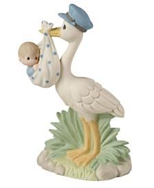 Love Is On Its Way Stork Figurine, Boy