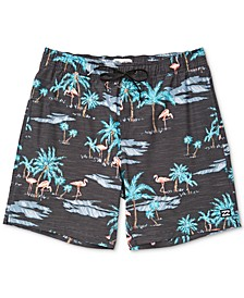 Toddler Boys Sundays Layback Flamingo-Print Swim Suit