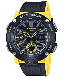 Men's Analog-Digital Black & Yellow Resin Strap Watch 48.7mm