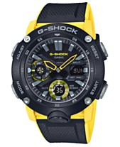 5d564ab1eb3c G-Shock Men's Analog-Digital Black & Yellow Resin Strap Watch ...