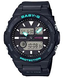 Baby-G Women's Analog-Digital Black Resin Strap Watch 42.4mm