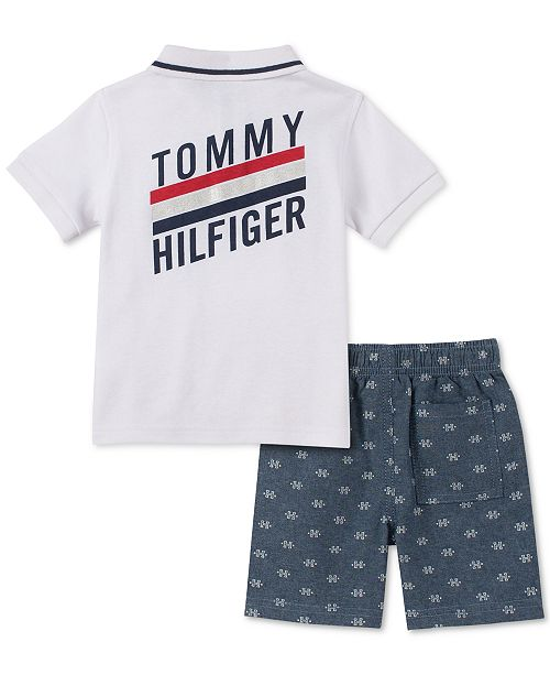 2afd90652 Tommy Hilfiger Baby Boys 2-Pc. Polo Shirt & Printed Shorts Set ...