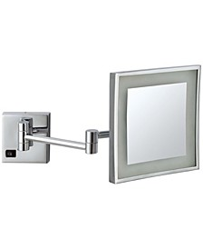 Glimmer Square Wall-Mounted LED 3x Makeup Mirror