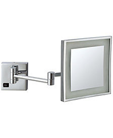 Nameeks Glimmer Square Wall-Mounted LED 3x Makeup Mirror