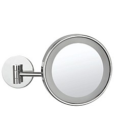 Glimmer Wall-Mounted Single Face 3x LED Makeup Mirror