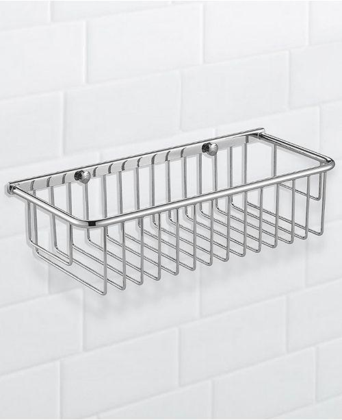 Nameeks General Hotel Chrome Wall-Mounted Wire Shower Basket