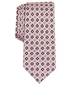 Original Penguin Men's Glover Neat Printed Silk Skinny Tie