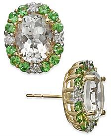 Multi-Gemstone (4-5/8 ct. t.w.) & Diamond Stud Earrings (1/4 ct t.w.) in 10k Gold
