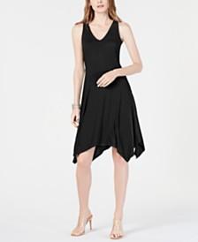 I.N.C. Sleeveless Asymmetrical-Hem Dress, Created for Macy's