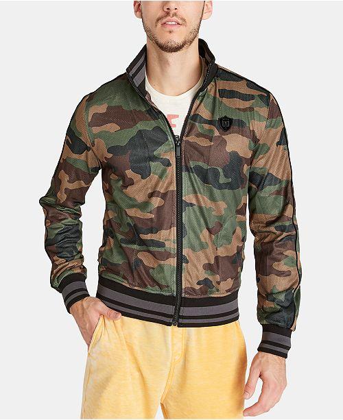 Buffalo David Bitton Men's Camo Track Jacket