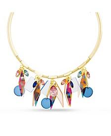 Women's Rhinestone Retro Design Choker Dangle Charm Necklace